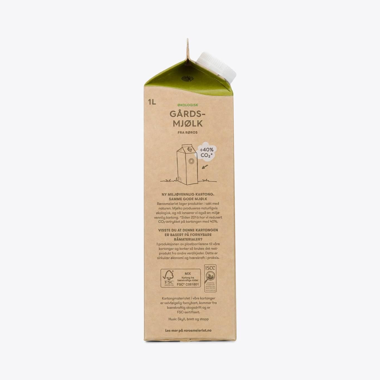 Økologisk Gårdsmjølk fra Røros Lettmjølk