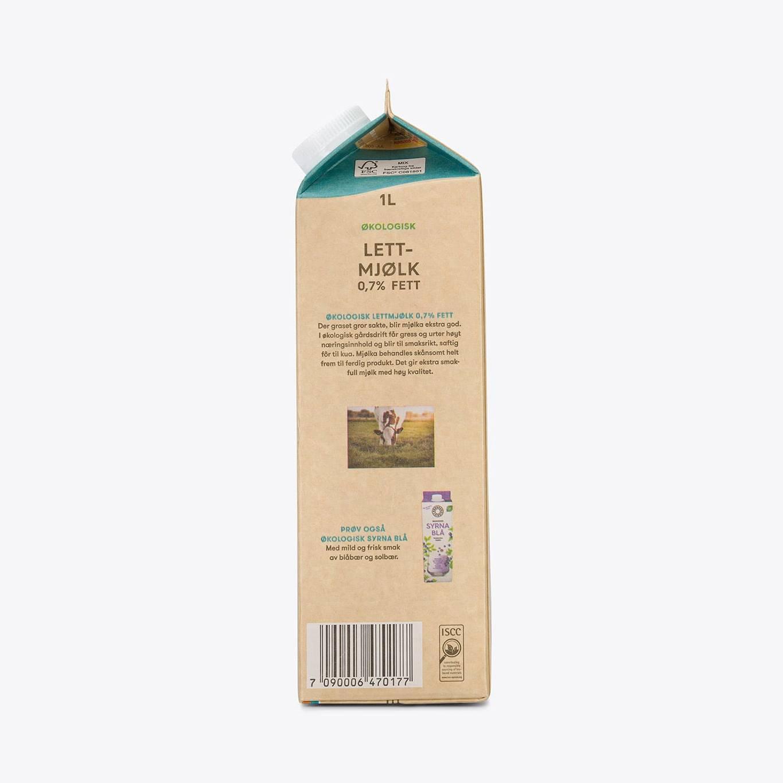 Økologisk Lettmjølk 0,7% fett