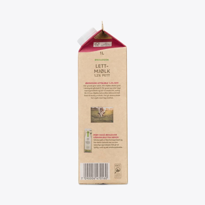 Økologisk Lettmjølk 1,2% fett