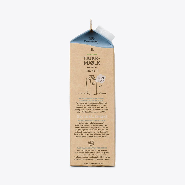 Økologisk Tjukkmjølk fra Røros 1,5% fett