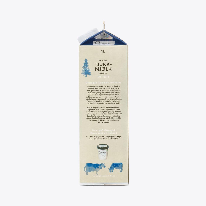 Økologisk Tjukkmjølk fra Røros 4% fett