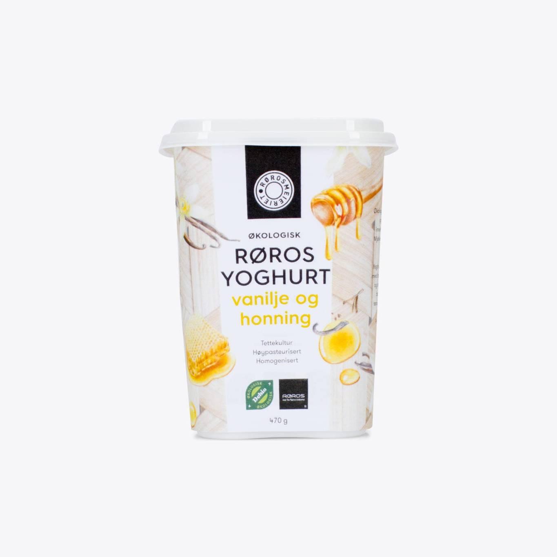 Økologisk Røros Yoghurt Vanilje og Honning
