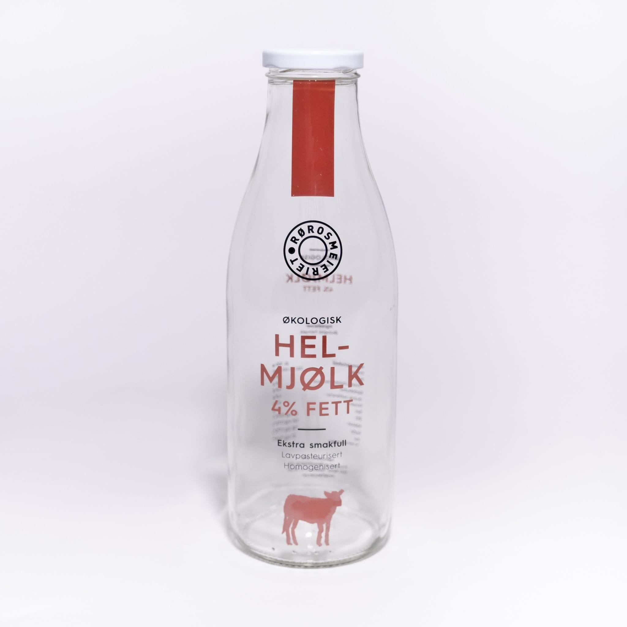 Glassflaske Helmjølk