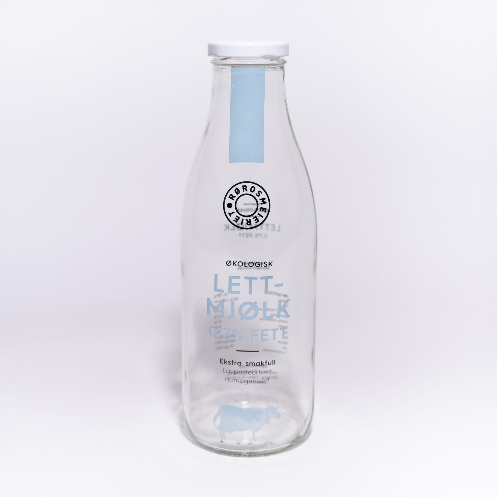 Glassflaske Lettmjølk 0,7 %