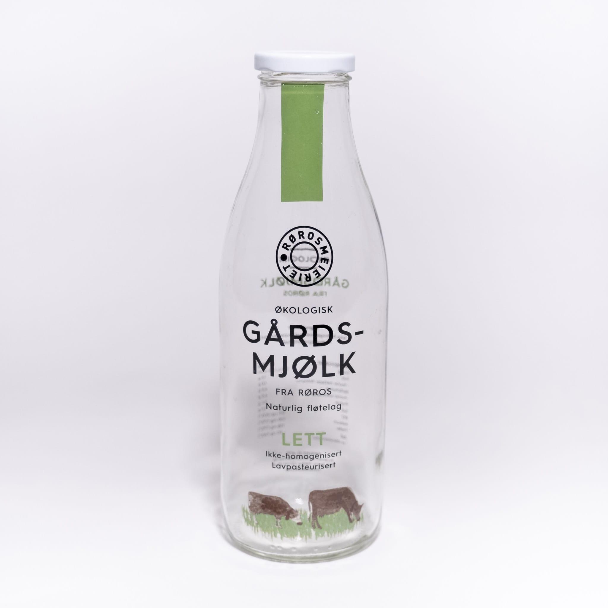Glassflaske Gårdsmjølk