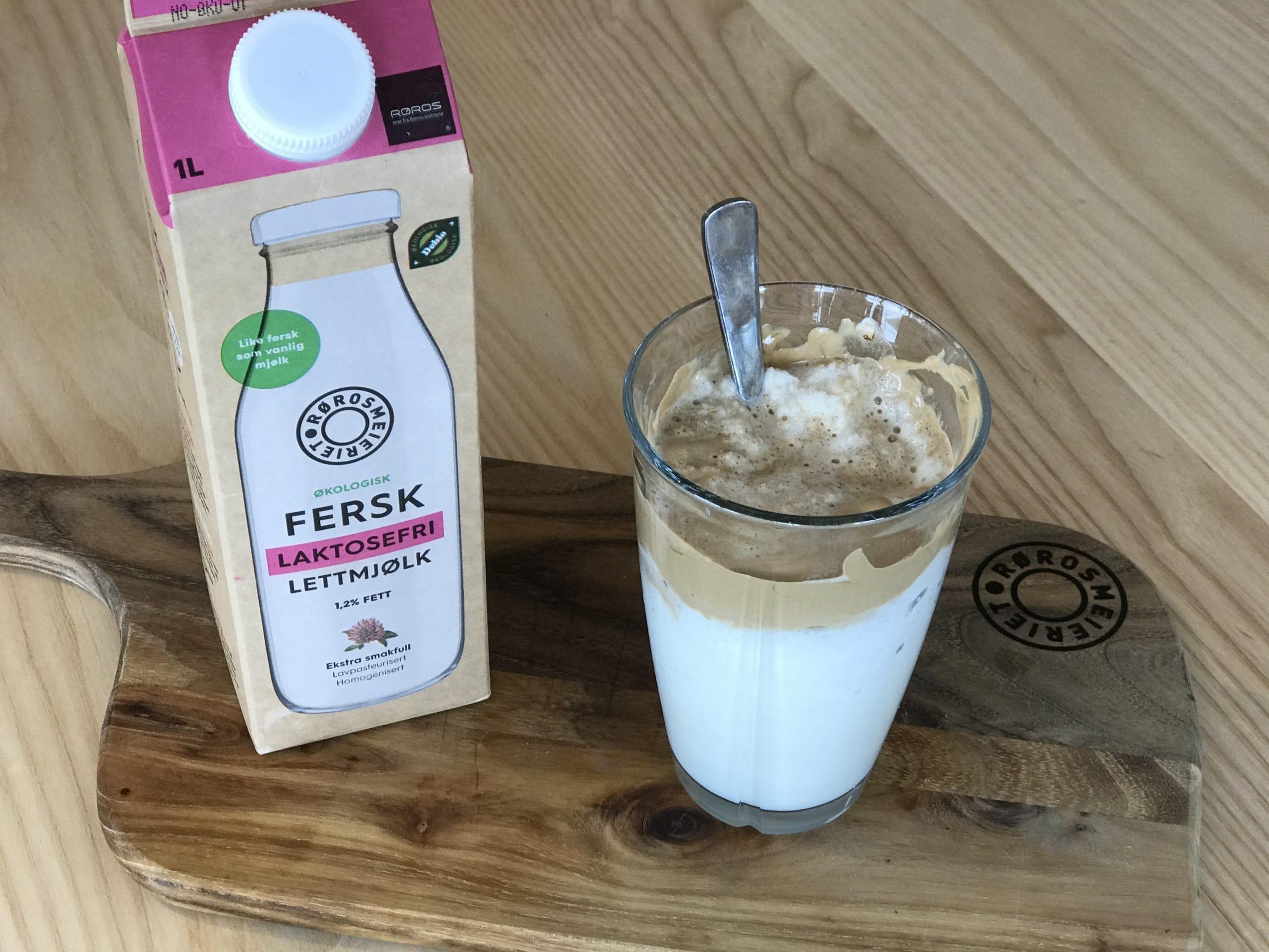 Frappe med Laktosefri lettmjølk fra Rørosmeieriet