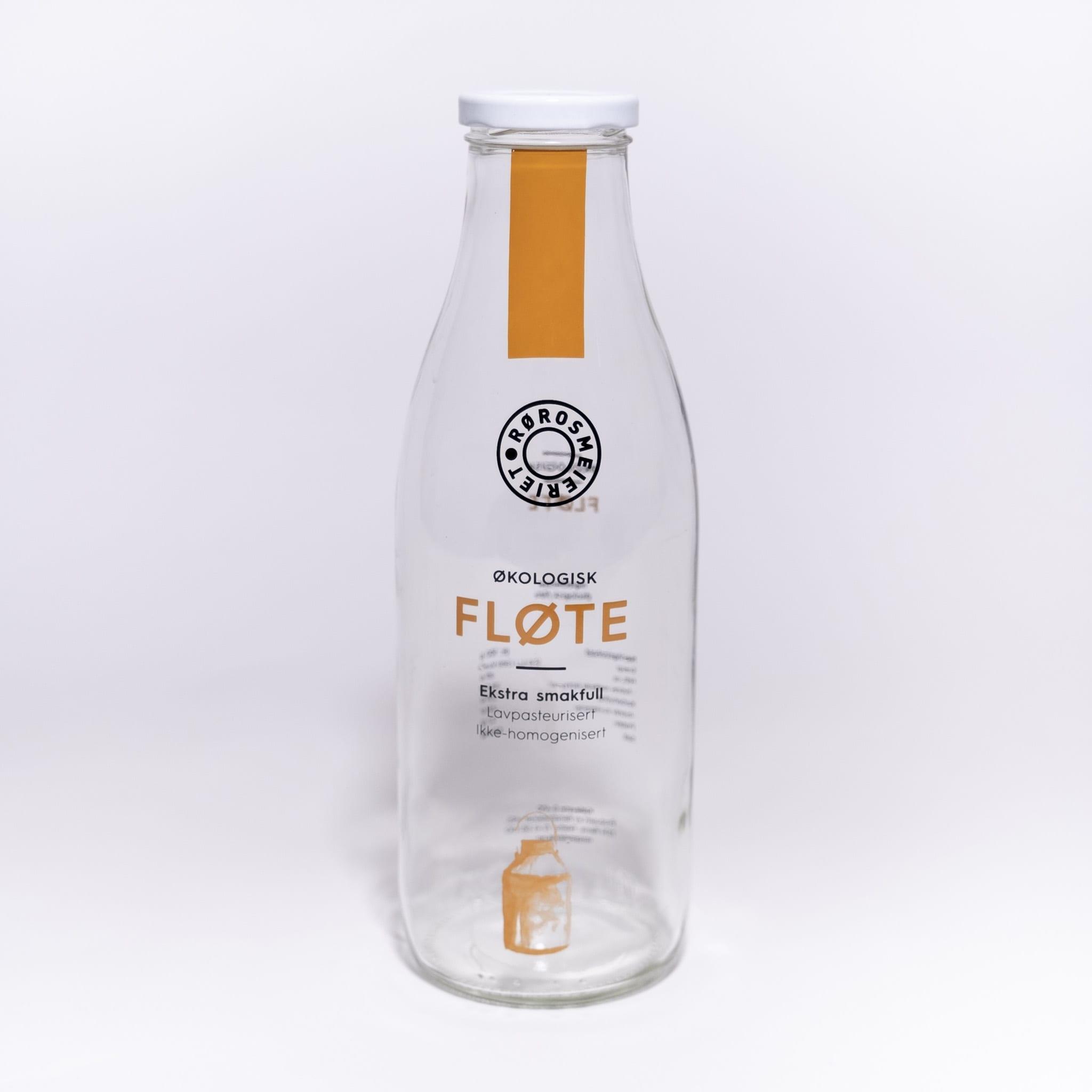 Glassflaske Rørosmeieriet