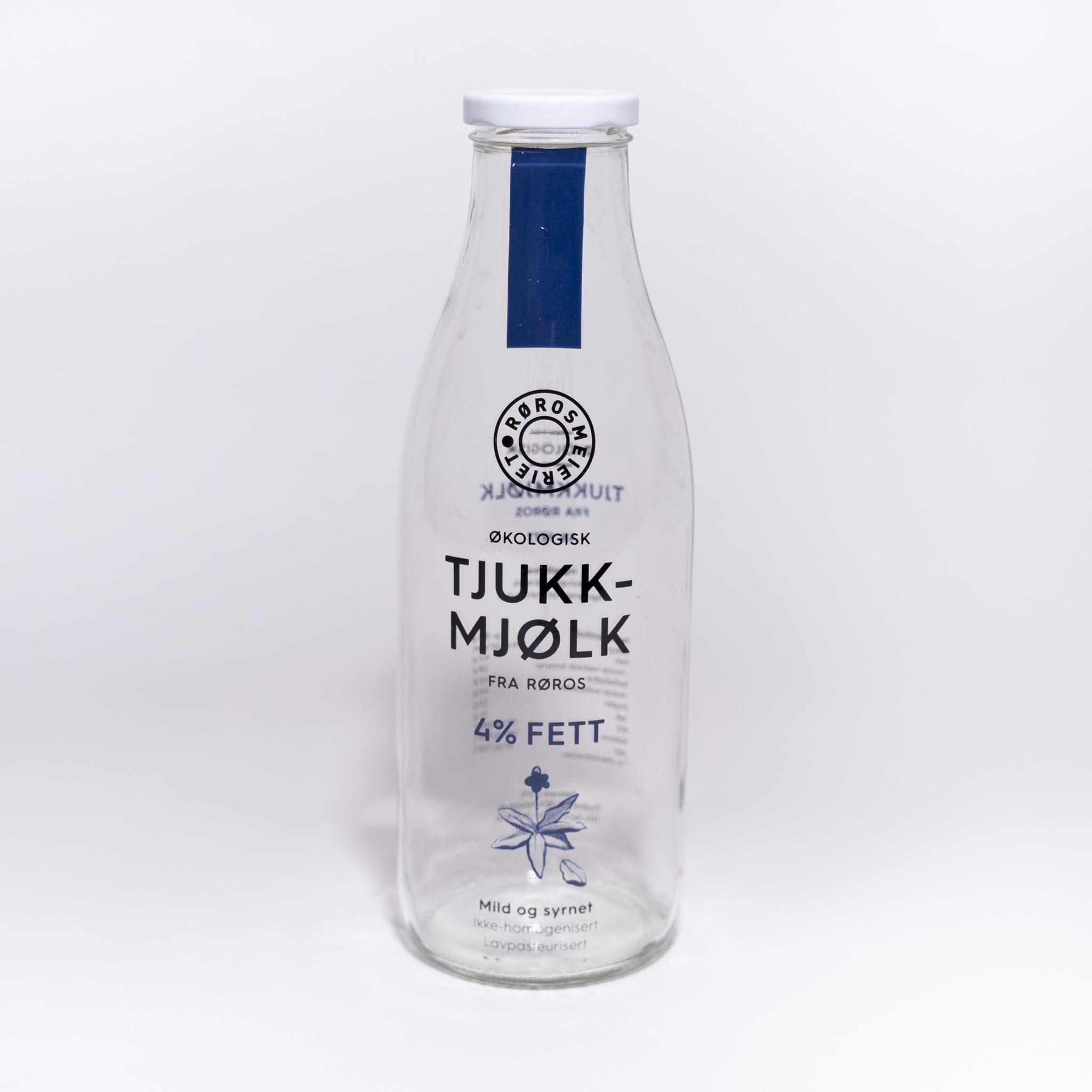 Glassflaske Tjukkmjølk 4%